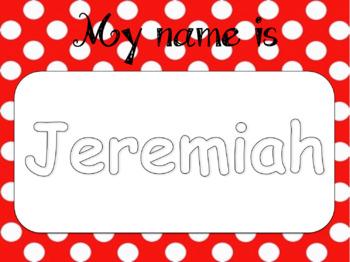 Playdough Name Practice Mats (Editable)
