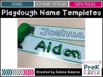 Playdough Name Templates