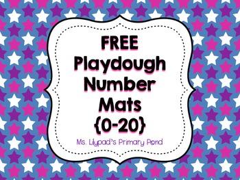 Playdough Number Mats 0-20