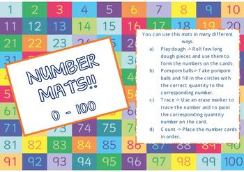 Playdough Number Mats 0 to 100!