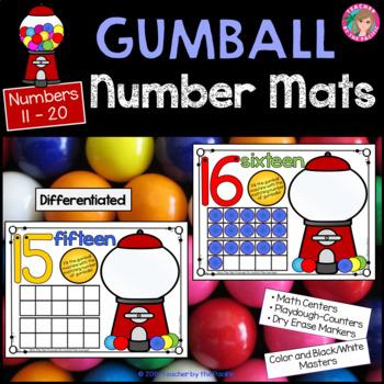Play Dough - Number Mats 11-20 {GUMBALLS}