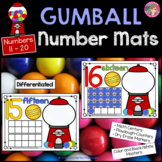 Play Dough - Number Mats 11-20 {GUMBALLS}
