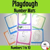 Playdough Number Mats {Numbers 1-10}