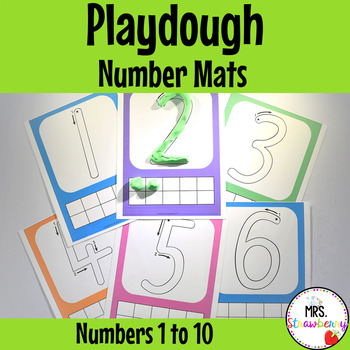 Playdough Number Mats {Numbers 1-10}