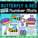 Playdough – Number Mats {Butterflies and Bees - SPRING MATH}