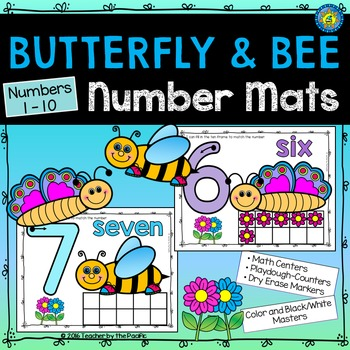 Playdough – Number Mats {Butterflies and Bees - SPRING MATH}