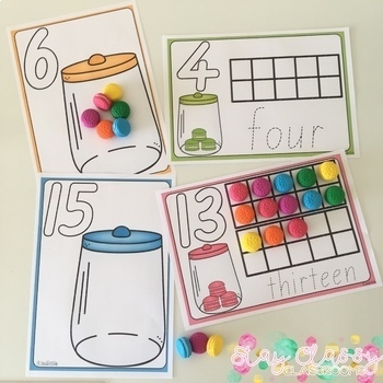 Playdough Number Mats BUNDLE