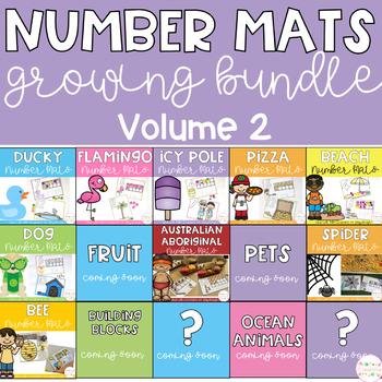 Playdough Number Mats GROWING BUNDLE - Volume 2