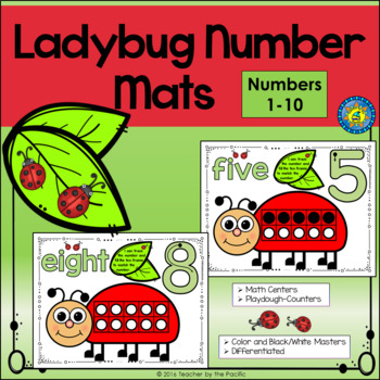 Playdough – Number Mats {LADYBUG - SPRING MATH}