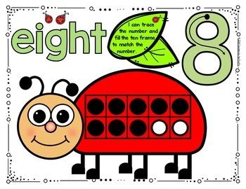 Playdough – Number Mats {LADYBUG - SPRING MATH}