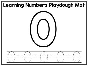 Playdough Number Mats Numbers to 30 Play Dough