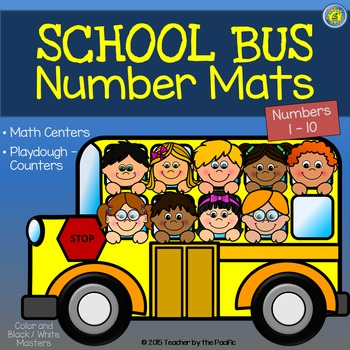 Playdough - Number Mats {SCHOOL BUS}