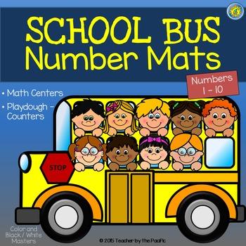 Playdough - Number Mats {SCHOOL BUS}