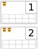 Playdough Number Mats with Ten Frames