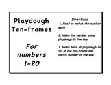 Playdough Number Workmats & Ten Frames for 1-20