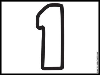 Playdough Numbers 1-20 {Freebie}