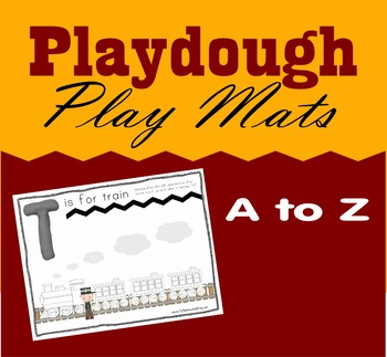 Playdough Play Mats with Alphabet Letters