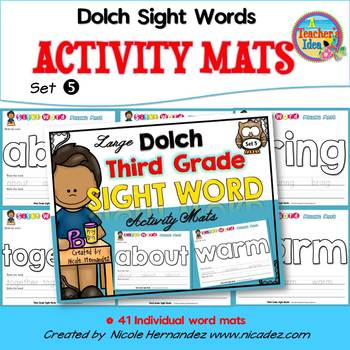 Playdough (Playdoh) 41 Third Grade Dolch Sight Words Mould