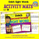 Playdough (Playdoh) 46 Second Grade Dolch Sight Words Moulding (Molding) Mats