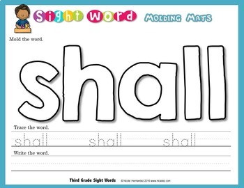 Playdough (Playdoh) All Dolch 220 Sight Words Moulding (Molding) Mats