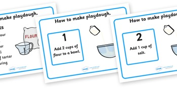 Playdough Recipe A4 Display Posters