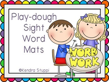 Playdough Sight Word Mats