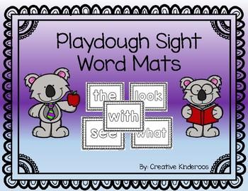 Playdough Sight Word Mats