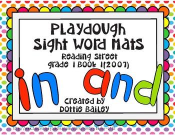 Playdough Sight Word Mats - Reading Street (2007) Grade 1 Book 1