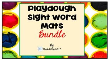Playdough Sight Words Tracing Mats~ The Bundle~