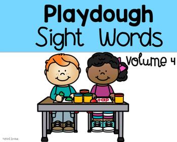 Playdough Sight Words volume 4