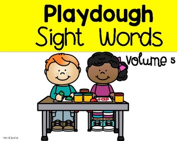 Playdough Sight Words volume 5
