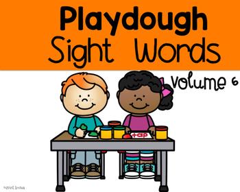 Playdough Sight Words volume 6