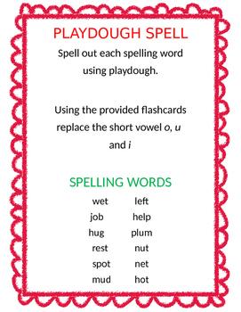 Playdough Spelling Lesson 2 Journey's