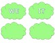 Playdough Stamp Word Cards (for uppercase playdough stamps)