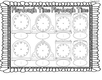 Playdough Time Mats - O'clock, Half Past, Quarter To and Past #springintosavings