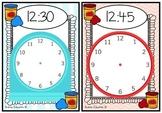 Playdough Time Mats - O'clock, Half Past, Quarter To and Past