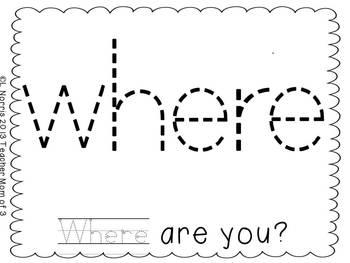Playdough Tracing Sight Word Mats Dolch Pre-Primer Set 2 ...