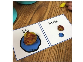 Playdough Visuals: Linguistic Concepts, Opposites, Pragmatic Lang, Verbs & more!