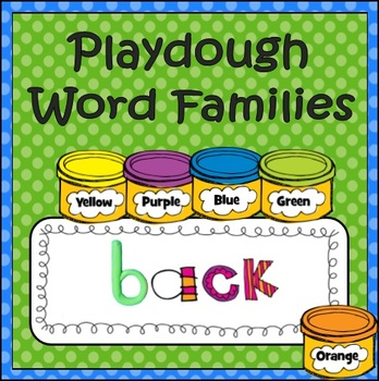 Playdough Word Family (Word Work)