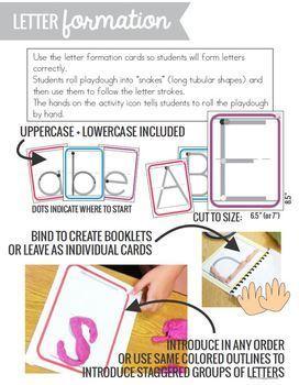 Playdough Word Work Pack (Literacy Center Activities)
