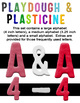Playdough and Plasticine - Basic Colors (red, blue, yellow, black, white)
