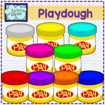 Playdough Container Clipart