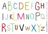 Playdough mat, Alphabet, Upper case