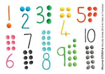 Playdough mat,  Numbers