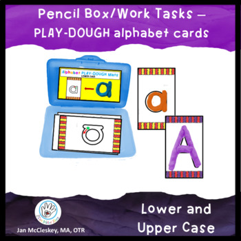 Playdough mat cards for Pencil Box or Work Tasks Containers