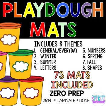 Playdough mats - 8 Themes Included (73 MATS)