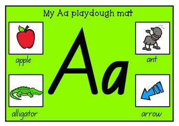 Playdough mats A-Z practise