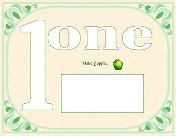 Playdough number mats #1-10
