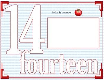 Playdough number mats #11-20