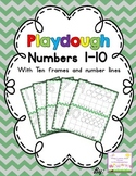 Playdough numbers 1-10 with ten frames-FREEBIE!